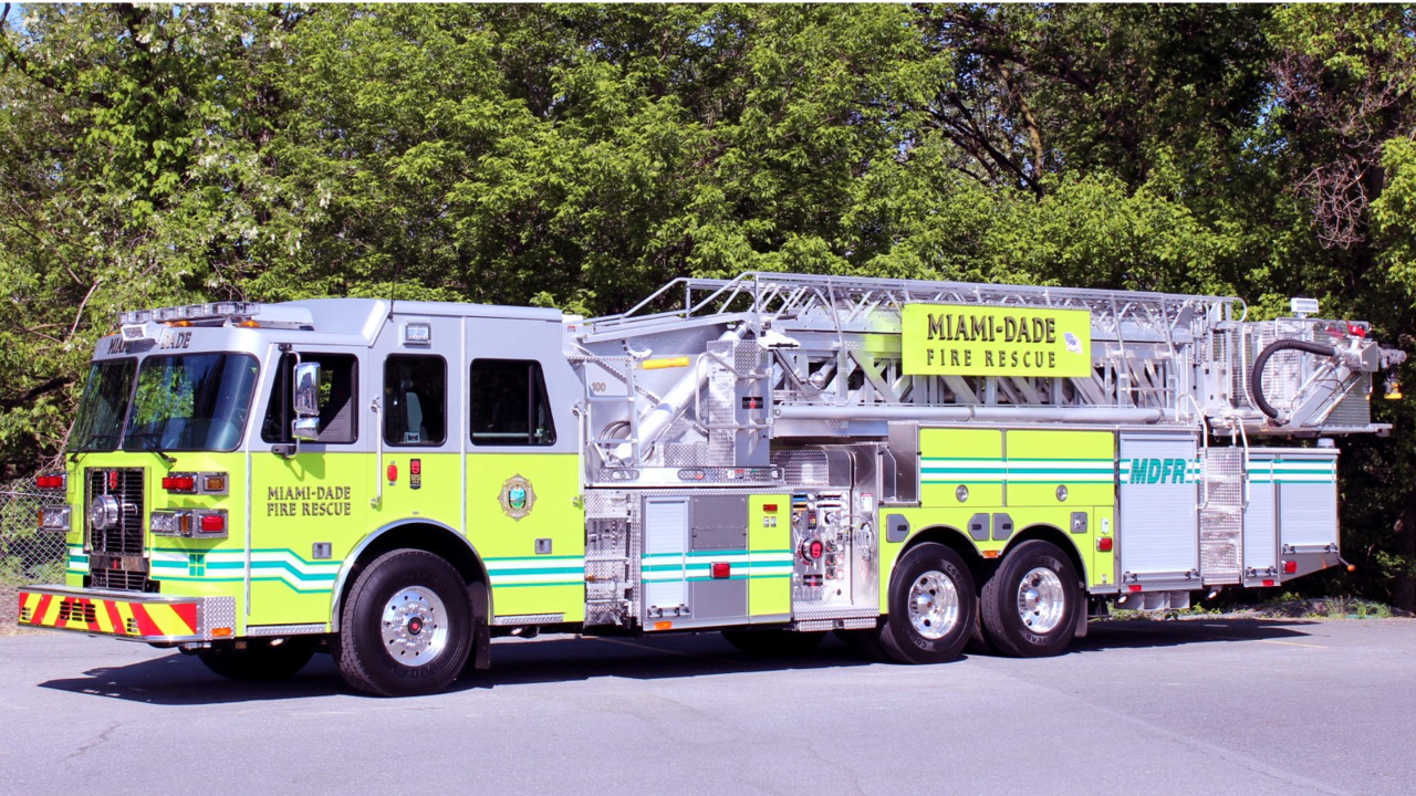 Miami-Dade, Fla., Fire Department Gets New Platform Aerial Built by ...