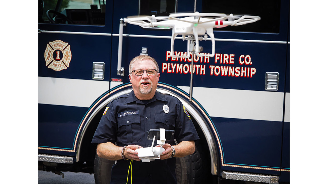 Firefighter Technology Plymouth Fire Company Drone