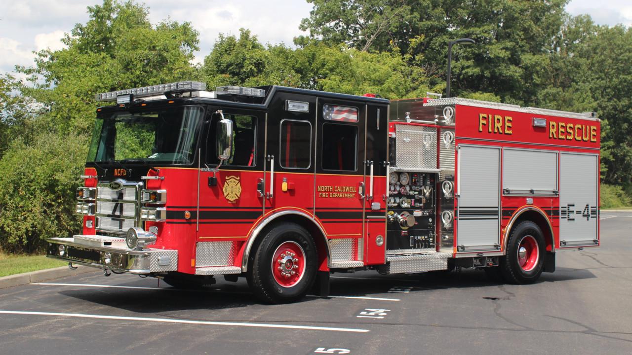 North Caldwell Fire Department N J Gets New Rescue Pumper
