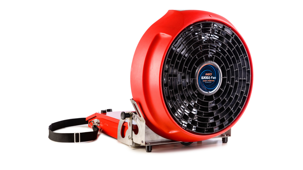 leader introduces new battery powered ventilation fan firehouse. Black Bedroom Furniture Sets. Home Design Ideas