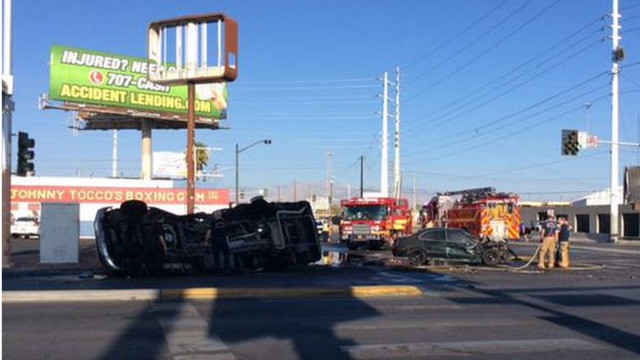 Two Killed in Fiery Bus Crash in Las Vegas