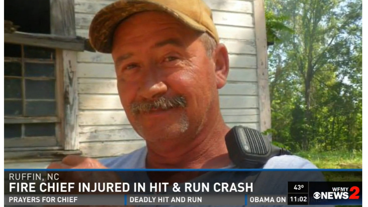Ruffin n c fire chief injured in hit and run at scene for Nc division of motor vehicles driving log