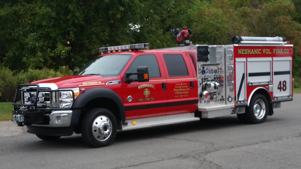 Neshanic N J Volunteer Firefighters Put Mini Pumper In