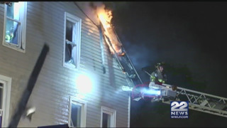House Burns in Massachusetts