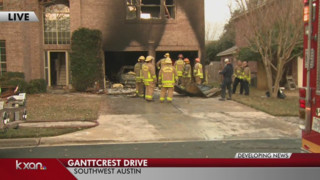 Garage Fire Spreads to Austin House