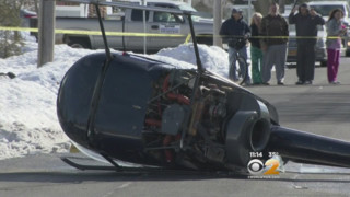 Chopper Crashes on Long Island Street