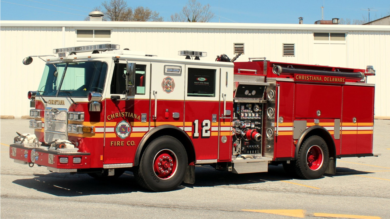 Christina, Del., Fire Company, 'The Dirty Dozen' Put Engine 12, built ...