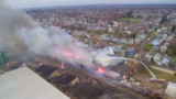 Drone Captures Size of Pa. Warehouse Fire