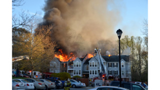 Photos:  Blaze Hits Md. Apartments