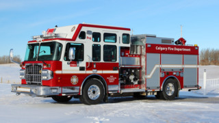 Enclosed CAFS Pumper Delivered to Calgary, AB Canada