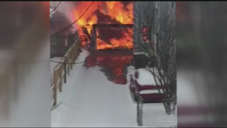 Flames Destroy Mass. Garage
