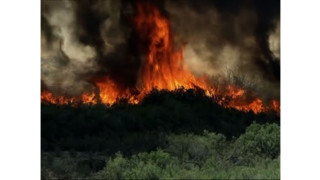 Wildfire Burns Near Arizona-California Border