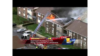 Md. Apartment Fire Tackled