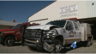 Three Okla. Firefighters Hurt in Wreck with Two Brush Trucks