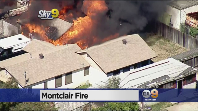 Calif. Recycling Center Fire Spreads to Houses