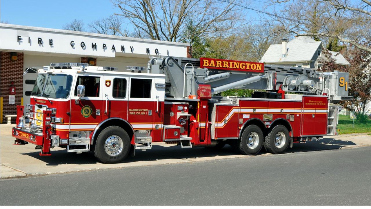 Barrington, NJ, Fire Department Remounts 95-foot Aerialscope on a New ...