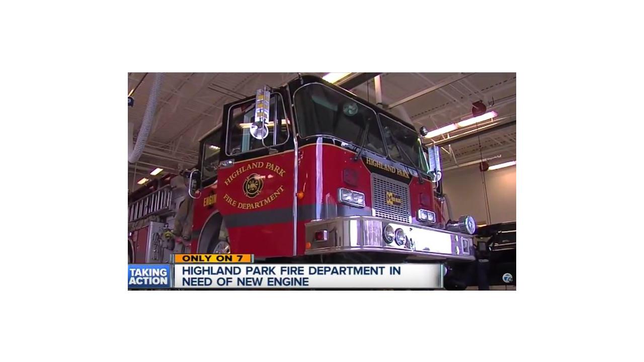 Fire Truck Christmas Lights