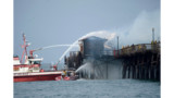 Fire Destroys Vacant Diner on CA Pier