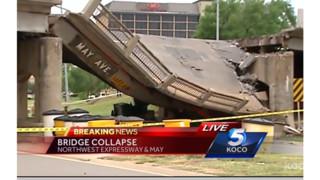 Truck Slams into OK Bridge