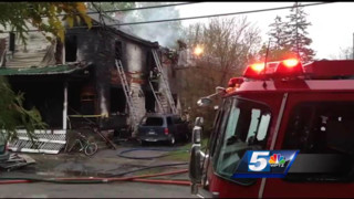VT House Goes up in Flames