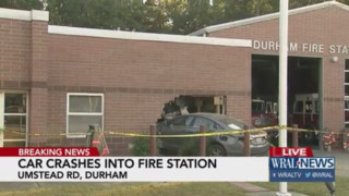 Car Crashes into NC Fire Station
