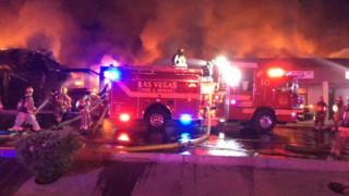 Fire Destroys Several Las Vegas Businesses