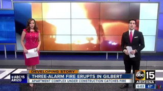 Fire Consumes AZ Apartments Under Construction