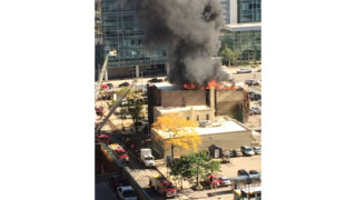 Aerials Contain Blaze in Downtown Minneapolis