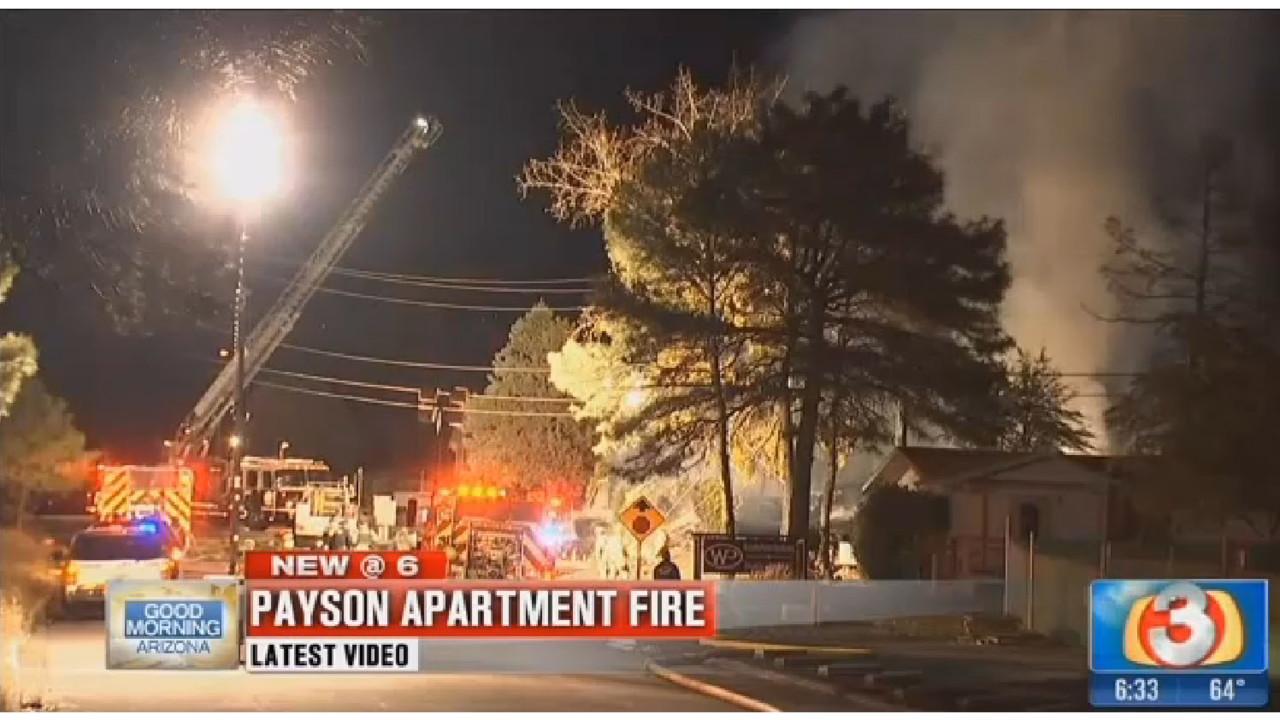 massive explosion  fire destroys payson  az  apartment complex