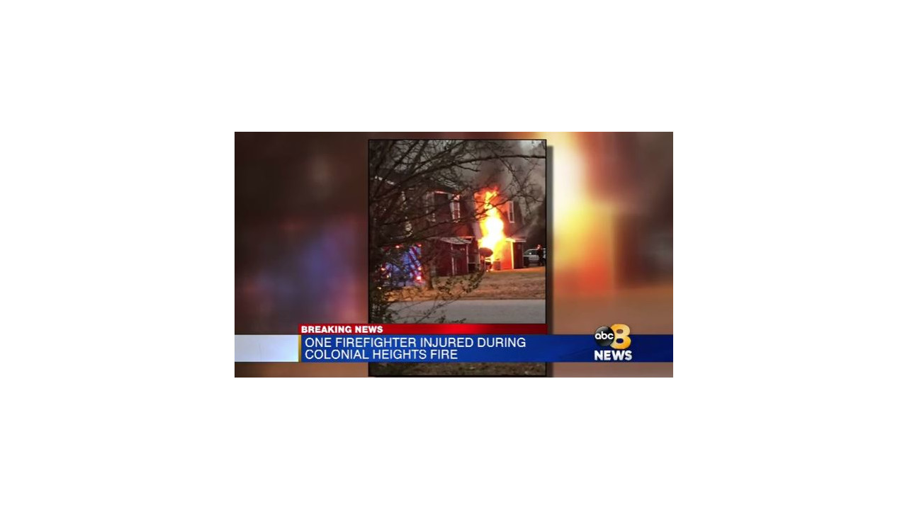 Firefighter Hurt at Colonial Heights House Fire - Firefighter News ...