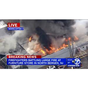 FourAlarm Blaze Hits North Bergen NJ Furniture Store Firehouse