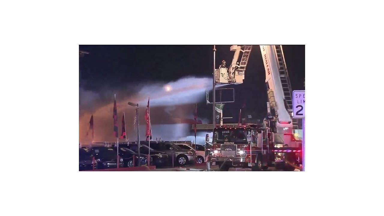 Hialeah Car Dealership Fire