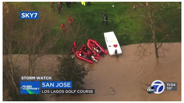 Flooding in San Jose Prompts Evacuations, Rescue Missions