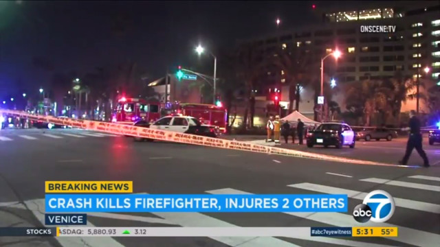 Firefighter from Georgia killed in violent Los Angeles crash