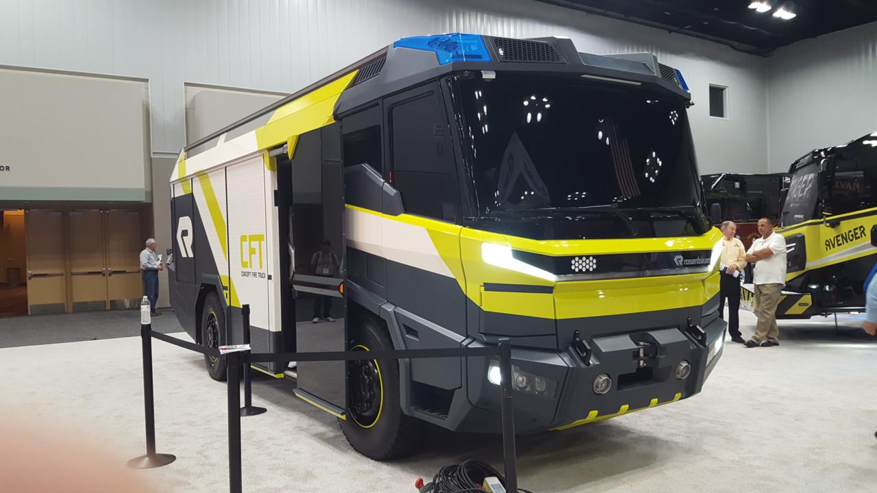 Rosenbauer Introduces Concept Electric Fire Truck Firehouse