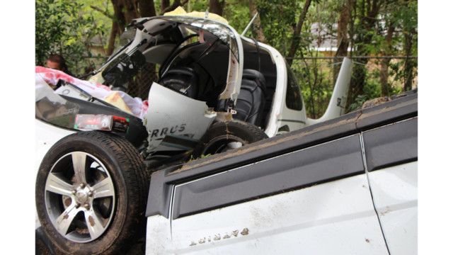 Small plane crashes into car parked at church; pilot injured