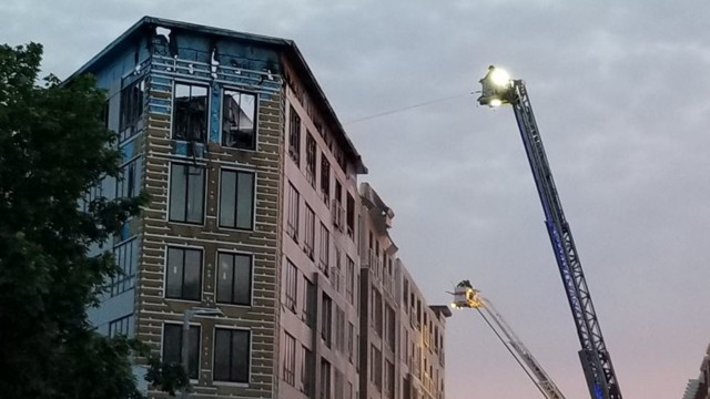 Building under construction catches fire in Dorchester
