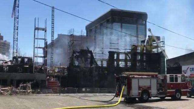 4-Alarm Blaze Engulfs Lake Merritt Construction Site