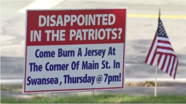 Patriots fans burn team gear over National Football League kneeling protests