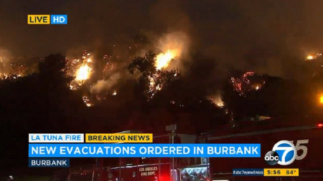 Homes evacuated in Los Angeles's 'largest fire in history'
