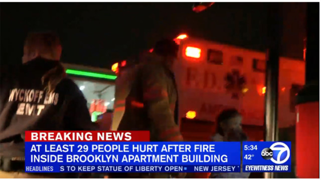 At Least 32 People, Including Firefighters, Hurt in Roaring Brooklyn Fire: FDNY