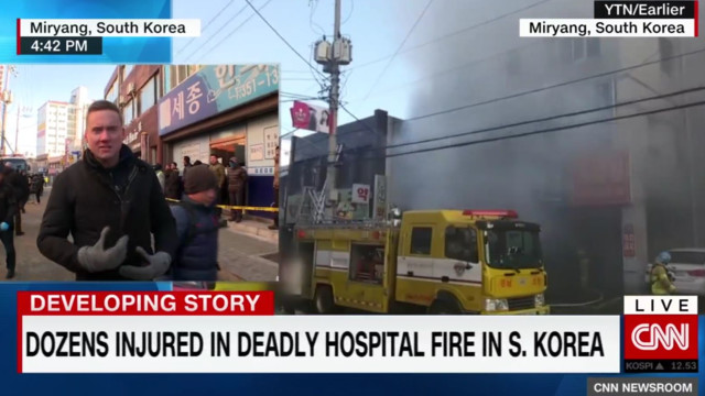 At least 31 killed in fire at South Korean hospital
