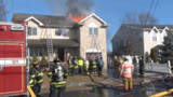 Watch NJ Firefighters Operating at Large Residential Blaze