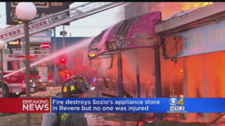 Mayday Called as Fire Destroys MA Appliance Store