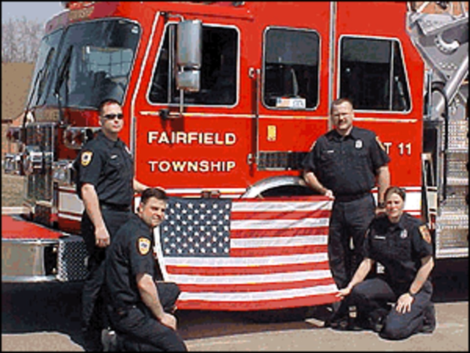 Fairfield Township, OH Flies American Flag Flown at Bagram