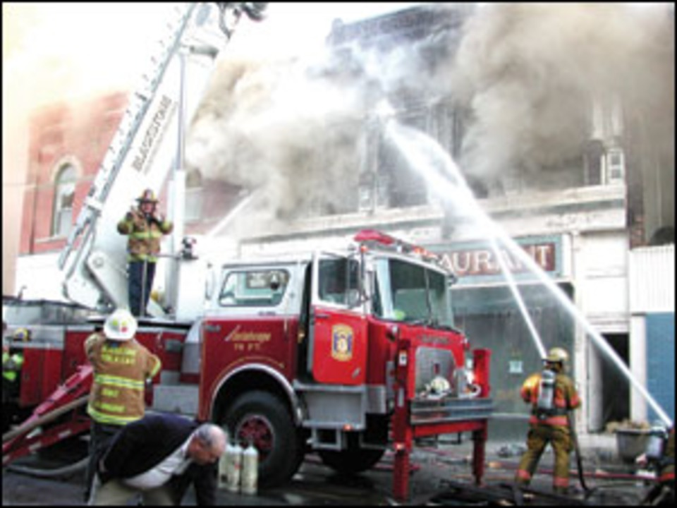 On main street heavy smoke fire then boom firefighters down credit ed conleys photographics heavy fire publicscrutiny Choice Image