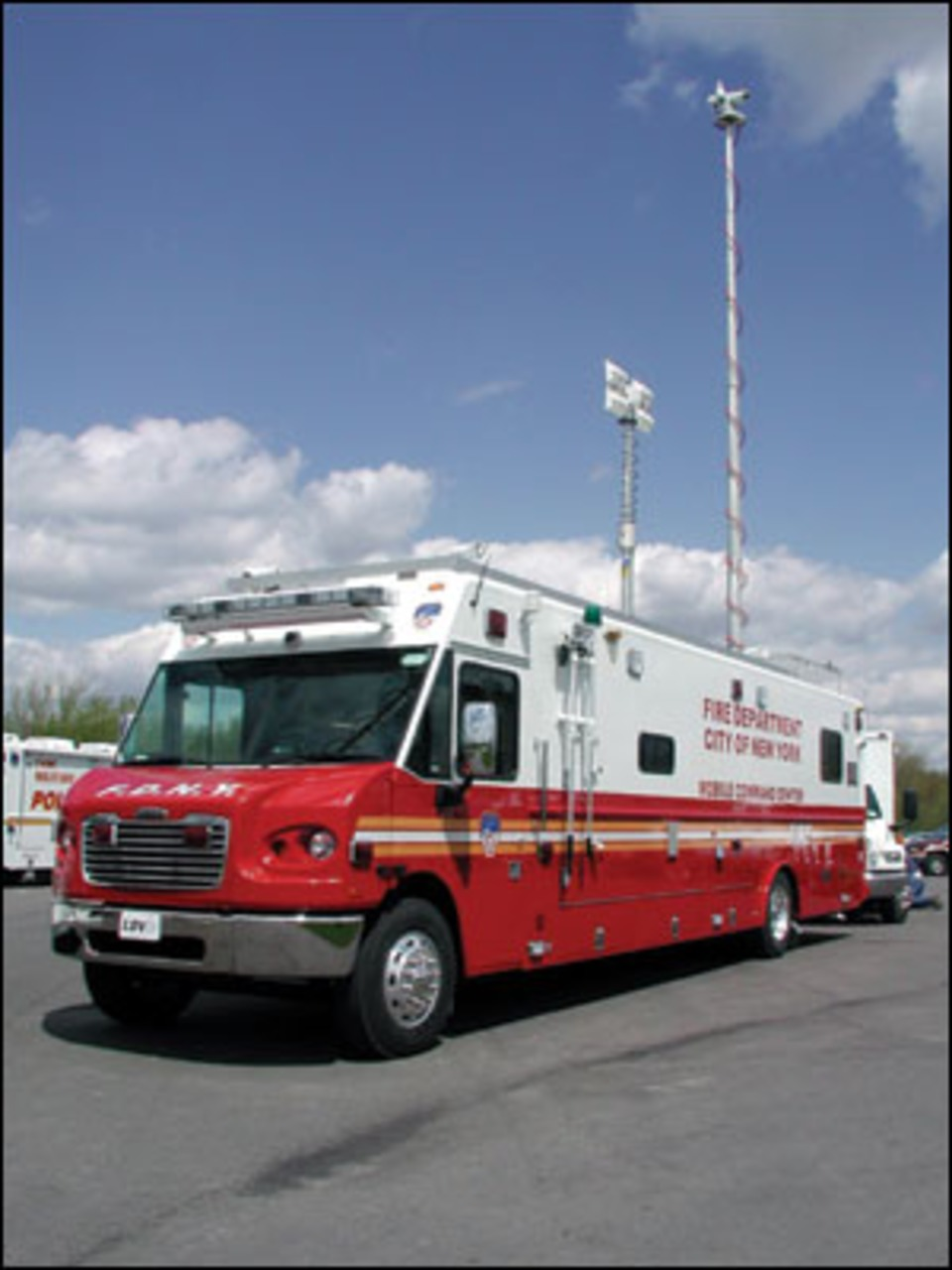 Communications And Command Vehicles Dispatch Centers On