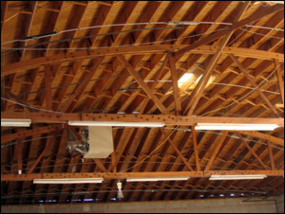 Firefighter Safety Training Bowstring Truss Roofs Are
