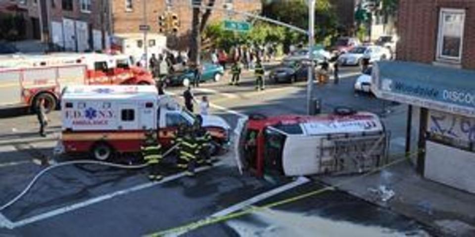 Man Killed After FDNY Ambulance, Van Collide