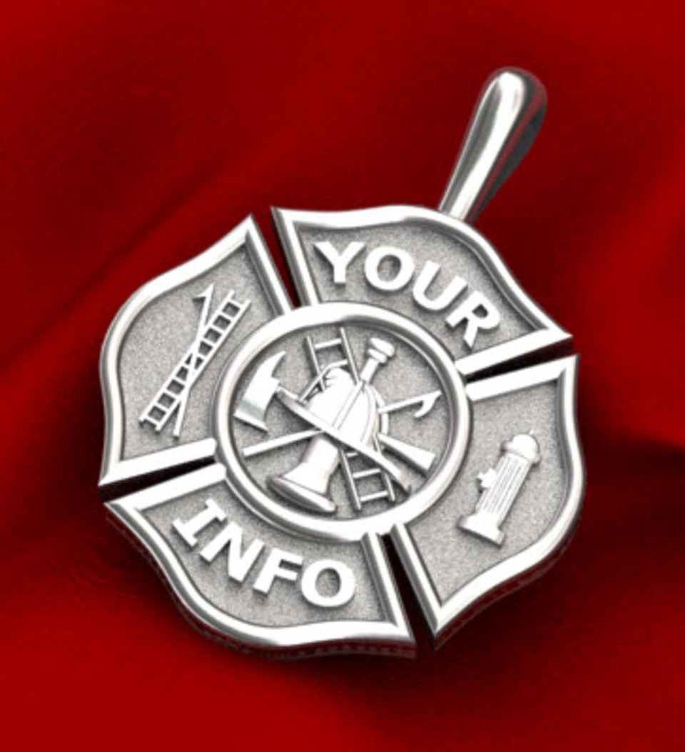 firefighter necklace maltese mizpah pendant cross